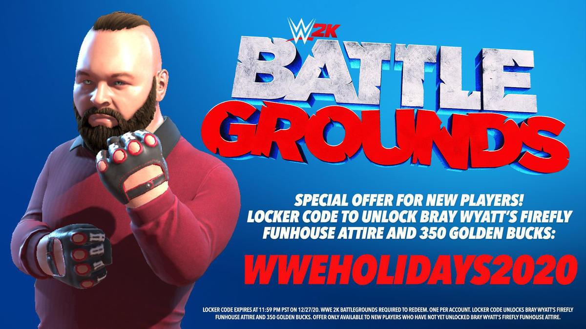 Get Firefly Fun House Bray Wyatt in WWE 2K Battlegrounds for free